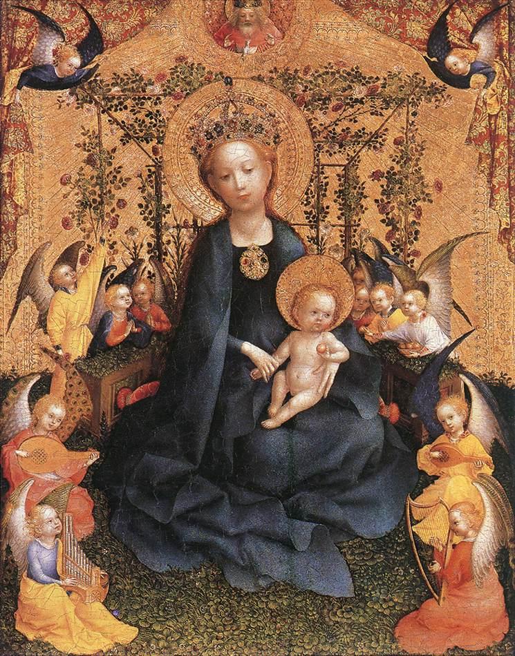 madonna in the rose garden